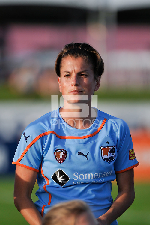 Angie Kerr (6) of Sky Blue FC. Sky Blue FC defeated the Atlanta Beat 3-0 during a Women's Professional Soccer (WPS) match at Yurcak Field in Piscataway, NJ, on May 21, 2011.