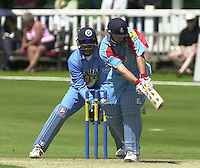 .24/06/2002.Sport - Cricket - .One day game 50 overs - Kent CC vs India.St Lawrence Ground - Canterbury.David Fulton LBW,