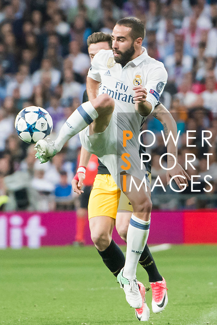 Daniel Carvajal Ramos of Real Madrid in action during their 2016-17 UEFA Champions League Semifinals 1st leg match between Real Madrid and Atletico de Madrid at the Estadio Santiago Bernabeu on 02 May 2017 in Madrid, Spain. Photo by Diego Gonzalez Souto / Power Sport Images