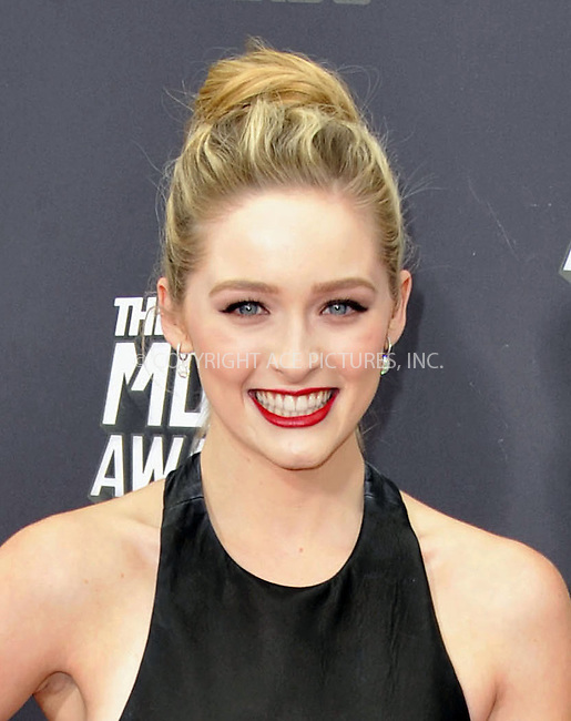 WWW.ACEPIXS.COM....April 14, 2013, Los Angeles, Ca.......Greer Grammer arriving at the 2013 MTV Movie Awards at Sony Pictures Studios on April 14, 2013 in Culver City, California.......By Line: Peter West/ACE Pictures....ACE Pictures, Inc..Tel: 646 769 0430..Email: info@acepixs.com