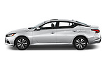 Car Driver side profile view of a 2019 Nissan Altima SV 4 Door Sedan Side View