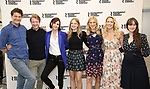Gabriel Ebert, Matthew James Thomas, Elizabeth McGovern, Anna Baryshnikov, Charlotte Parry, Anna Camp, and Brooke Bloom attend the press photo call for the Roundabout Theatre Company's production of  'Time and the Conways' at The Roundabout Theatre Studios on August 24, 2017 in New York City.