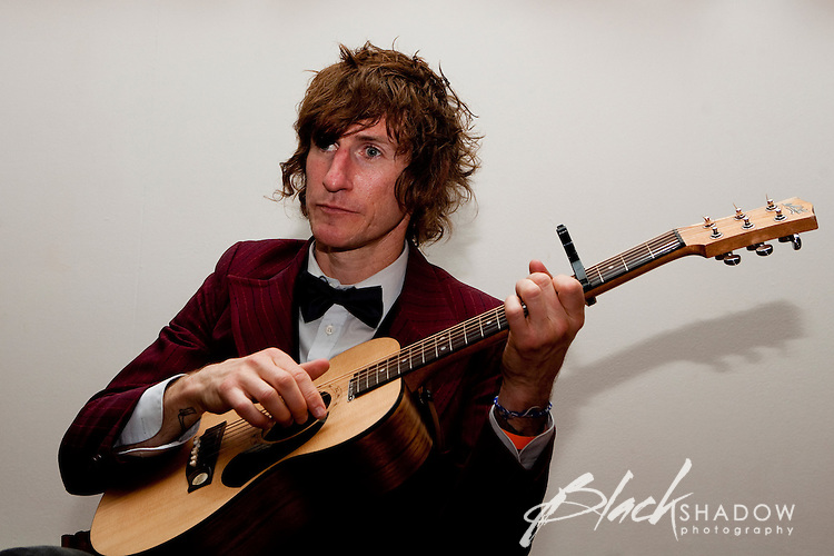 Back stage portrait of Tim Rogers at the Winterlong Benefit Concert for the Sophia Mundie Steiner School, held at the Thornbury Theatre, 30 August 2009.