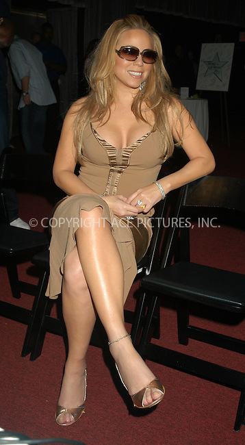 WWW.ACEPIXS.COM . . . . . ....NEW YORK, APRIL 19, 2005....Mariah Carey at the Make A Wish Foundation 25th Anniversary Celebration at Madame Tussauds.....Please byline: KRISTIN CALLAHAN - ACE PICTURES.. . . . . . ..Ace Pictures, Inc:  ..Craig Ashby (212) 243-8787..e-mail: picturedesk@acepixs.com..web: http://www.acepixs.com