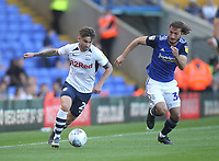 Preston North End's Sean Maguire in action with Birmingham City's Ivan Sunjic<br /> <br /> Photographer Mick Walker/CameraSport<br /> <br /> The EFL Sky Bet Championship - Birmingham City v Preston North End - Saturday 21st September 2019 - St Andrew's - Birmingham<br /> <br /> World Copyright © 2019 CameraSport. All rights reserved. 43 Linden Ave. Countesthorpe. Leicester. England. LE8 5PG - Tel: +44 (0) 116 277 4147 - admin@camerasport.com - www.camerasport.com