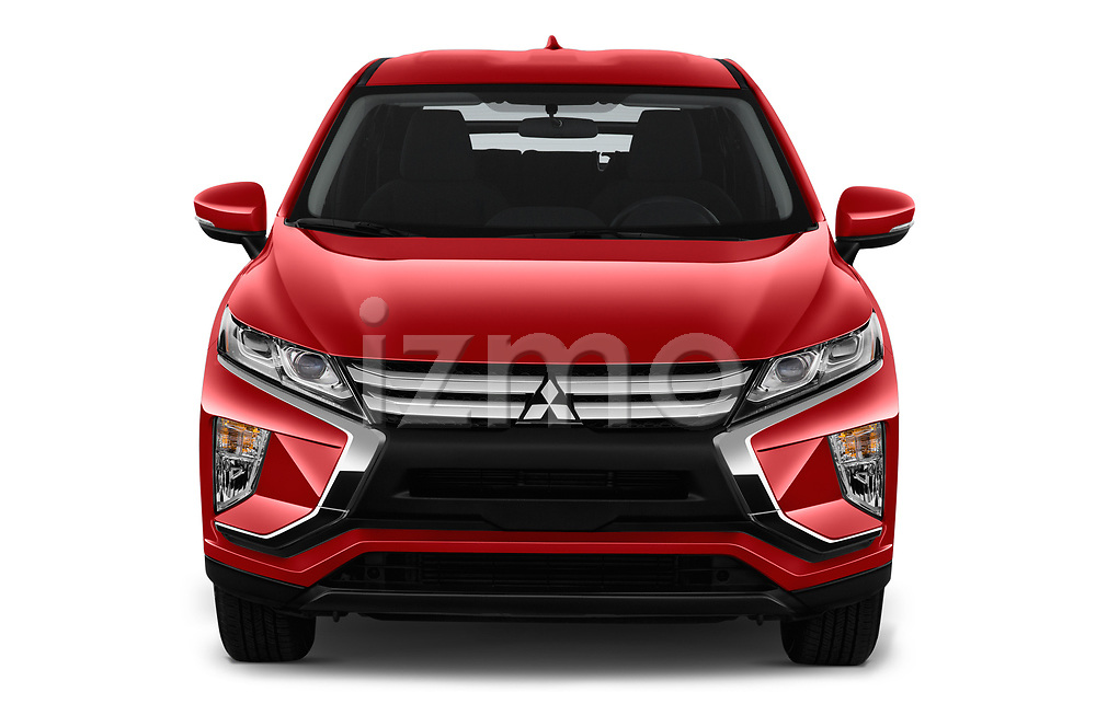 Car photography straight front view of a 2018 Mitsubishi Eclipse Cross ES 2WD 5 Door SUV