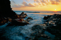Mouth of Oheo Gulch at sunrise<br />