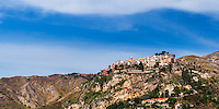 Castelmola, panoramic photo of the hill top village above Taormina, Sicily, Italy, Europe. This is a panoramic photo of Castelmola, a hill top village above Taormina, Sicily, Italy, Europe.