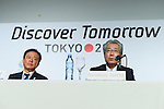 (L to R) <br />  Naoki Inose, <br /> Tsunekazu Takeda, <br /> SEPTEMBER 7, 2013 : <br /> Japan Olympic Committee President Tsunekazu Takeda speaks during a press conference after Tokyo was announced as the winning city bid for the 2020 Summer Olympic Games at the 125th International Olympic Committee (IOC) session in Buenos Aires Argentina, on Saturday September 7, 2013. (Photo by YUTAKA/AFLO SPORT) [1040]