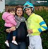 2013 leading rider Alex Cintron and family at Delaware Park on 10/9/13
