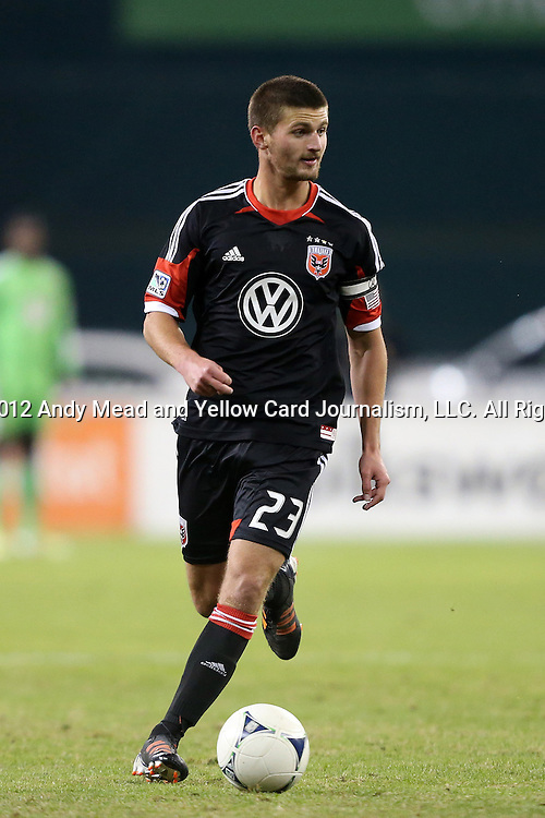 18 November 2012: DC's Perry Kitchen. DC United played the Houston Dynamo at RFK Stadium in Washington, DC in the second leg of their 2012 MLS Cup Playoffs Eastern Conference Final series. The game ended in a 1-1 tie, Houston won the series 4-2 on aggregate goals.