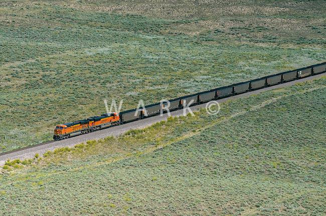 Coal train BNSF eastern Colorado. Aug 20, 2014. 812940
