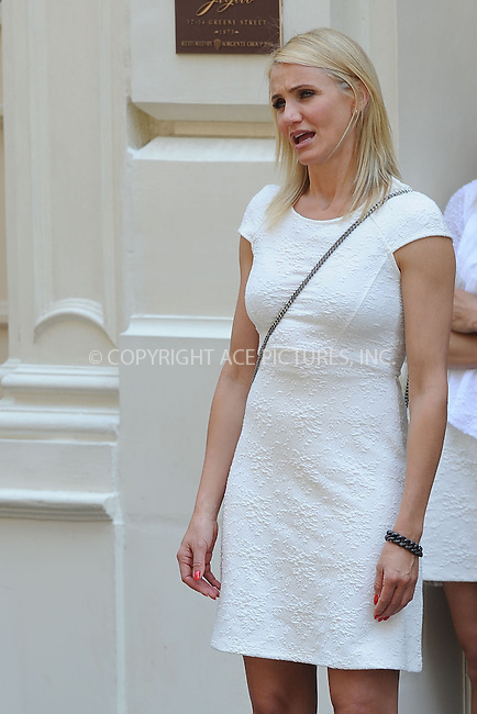 WWW.ACEPIXS.COM<br /> June 21, 2013, New York City<br /> <br /> Cameron Diaz on the film set of The Other Woman in SoHo on June 21, 2013.<br /> <br /> By Line: Kristin Callahan/ACE Pictures<br /> ACE Pictures, Inc.<br /> tel: 646 769 0430<br /> Email: info@acepixs.com<br /> www.acepixs.com<br /> Copyright:<br /> Kristin Callahan/ACE Pictures