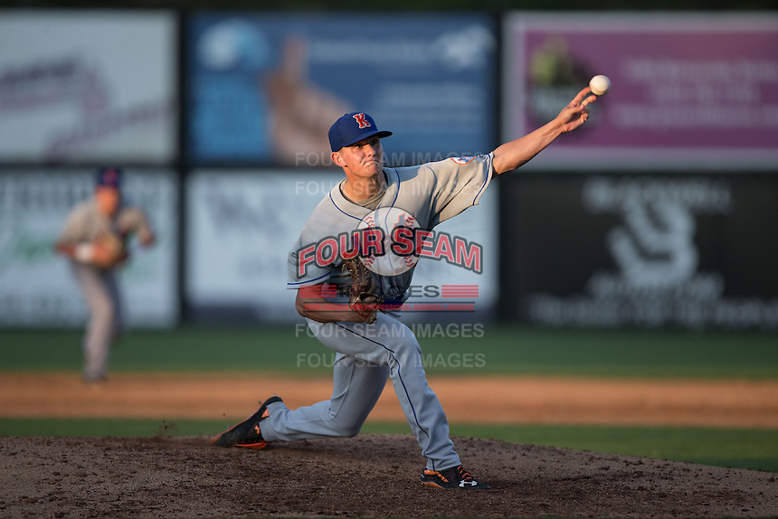 Kingsport Mets starting pitcher Max Wotell (30) delivers a pitch to the plate against the Danville Braves at American Legion Post 325 Field on July 9, 2016 in Danville, Virginia.  The Mets defeated the Braves 10-8.  (Brian Westerholt/Four Seam Images)