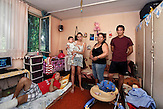 Smeredevo - Collective Center. Staniskovi? family arrived in 1999 from Obilic - Kosovo. Chaos and flies* entered into their daily lives. They wish to grow their baby in normal conditions which they are not able to achieve alone. *From the ceiling hangs a ?catching-flies? tape, used in most of the housings visited in the collective center. Flies are a real plague for the residents.