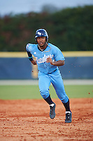 SCF Manatees Jaren Shelby (30) running the bases during a game against the College of Central Florida Patriots on February 8, 2017 at Robert C. Wynn Field in Bradenton, Florida.  SCF defeated Central Florida 6-5 in eleven innings.  (Mike Janes/Four Seam Images)