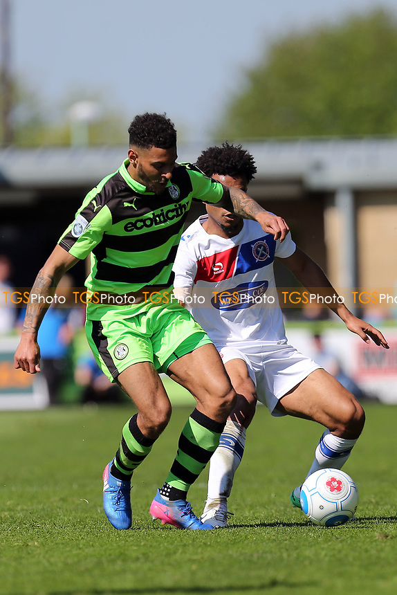 Kaiyne Woolery of Forest Green Rovers and Joe Widdowson of Dagenham and Redbridge during Forest Green Rovers vs Dagenham & Redbridge, Vanarama National League Play-Off Football at The New Lawn on 7th May 2017