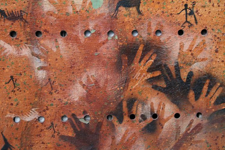 Art work found in the street of El Calafate, Patagonia, Argentina, Feb 08