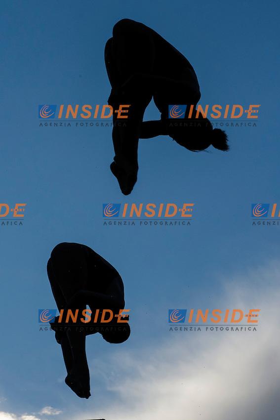 Jennifer Abel, Pamela Ware Canada <br /> Springboard 3m Sincro <br /> Roma 20-06-2016 Stadio del Nuoto Foro Italico Tuffi Campionati Italiani <br /> Foto Andrea Staccioli Insidefoto