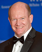 United States Senator Chris Coons (Democrat of Delaware) arrives for the 2017 White House Correspondents Association Annual Dinner at the Washington Hilton Hotel on Saturday, April 29, 2017.<br /> Credit: Ron Sachs / CNP