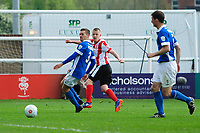 Lincoln City's Terry Hawkridge scores his sides second goal <br /> <br /> Photographer Chris Vaughan/CameraSport<br /> <br /> Vanarama National League - Lincoln City v Macclesfield Town - Saturday 22nd April 2017 - Sincil Bank - Lincoln<br /> <br /> World Copyright &copy; 2017 CameraSport. All rights reserved. 43 Linden Ave. Countesthorpe. Leicester. England. LE8 5PG - Tel: +44 (0) 116 277 4147 - admin@camerasport.com - www.camerasport.com