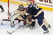 Joe Woll (BC - 31), (CFitzgerald), Joe Wegwerth (Notre Dame - 21) - The Boston College Eagles defeated the University of Notre Dame Fighting Irish 6-4 (EN) on Saturday, January 28, 2017, at Kelley Rink in Conte Forum in Chestnut Hill, Massachusetts.The Boston College Eagles defeated the University of Notre Dame Fighting Irish 6-4 (EN) on Saturday, January 28, 2017, at Kelley Rink in Conte Forum in Chestnut Hill, Massachusetts.