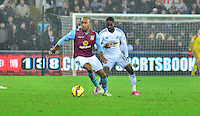 swansea...sport..swansea v aston villa...friday 26th december 2014...<br /> <br /> <br /> <br /> Swansea's Nathan Dyer on the ball