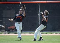 (Photo by John Valenzuela, Freelance)<br /> <br /> #3 Eamon McNeil. The Occidental College baseball team defeats Caltech to claim the SCIAC Championships on Sunday, May 1, 2016 at Oxy's Anderson Field.<br /> <br /> (Photo by John Valenzuela, Freelance)