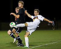 The Winthrop University Eagles lose 2-1 in a Big South contest against the Campbell University Camels.  Max Hasenstab (18), Ricki Gaez (8)