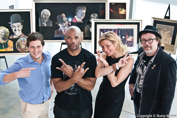 Justin Fishkin, Darryl 'DMC' McDaniels, Annie Balliro and Jeff Nolan at the Institute of Contemporary Art, Boston MA. May 14, 2011