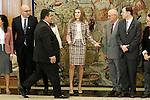 Princess Letizia of Spain attends audience with some members of the Spanish Federation of Rare Diseases (Federacion Espanola de Enfermedades Raras-FEDER).November 19,2012. (ALTERPHOTOS/Acero)