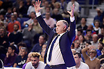 Real Madrid's /coach Pablo Laso during Turkish Airlines Euroleage match between Real Madrid and EA7 Emporio Armani Milan at Wizink Center in Madrid, Spain. January 27, 2017. (ALTERPHOTOS/BorjaB.Hojas)