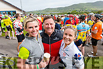 Nortita Brosnan, Don McMonagle and Lilly MacMonagle, Killarney in Caherciveen at the Ring of Kerry cycle on Saturday.