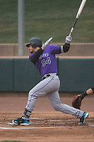 Colorado Rockies third baseman Nolan Arenado (94) follows through on his swing during an Extended Spring Training game against the Arizona Diamondbacks at Salt River Fields at Talking Stick on April 16, 2018 in Scottsdale, Arizona. (Zachary Lucy/Four Seam Images)