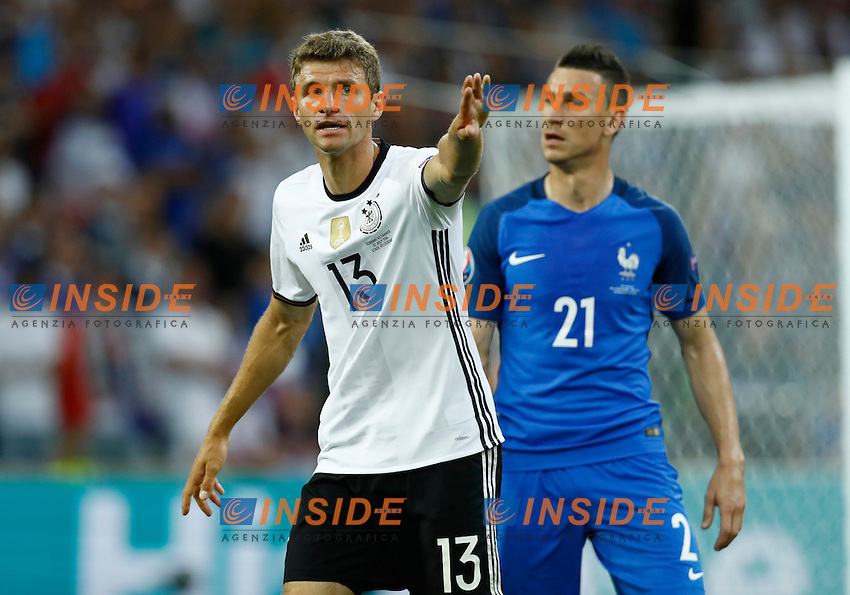 Thomas Muller (Germany) and Laurent Koscielny (France)<br /> Marseille 07-07-2016 Stade Velodrome Football Euro2016 Germany - France / Germania - Francia Semi-finals / Semifinali <br /> Foto Matteo Ciambelli / Insidefoto