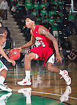 Louisiana Lafayette Ragin Cajuns guard Elfrid Payton (2) in action during the game between the Louisiana Lafayette Ragin Cajuns and the University of North Texas Mean Green at the North Texas Coliseum,the Super Pit, in Denton, Texas. Louisiana Lafayette defeats UNT 57 to 53.
