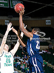 Jackson State Tigers forward/center Davon Jones (25) in action during the game between the Jackson State Tigers and the University of North Texas Mean Green at the North Texas Coliseum,the Super Pit, in Denton, Texas. UNT defeated Jackson State 69 to 55.