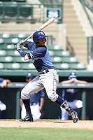 Tampa Bay Rays infielder Adrian Rondon (2) during an Instructional League game against the Baltimore Orioles on September 15, 2014 at Ed Smith Stadium in Sarasota, Florida.  (Mike Janes/Four Seam Images)