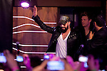 "AJ McLean of the Backstreet Boys attends a fan meeting performance concert during their new music album ""In A World Like This"" presentation at 40 Principales Cafe on November 12, 2013 in Madrid, Spain. (ALTERPHOTOS/Victor Blanco)"