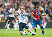 Everton Gylfi Sigurdsson and Crystal Palace Luka Milivojevic during the Premier League match between Crystal Palace and Everton at Selhurst Park, London, England on 10 August 2019. Photo by Andrew Aleksiejczuk / PRiME Media Images.