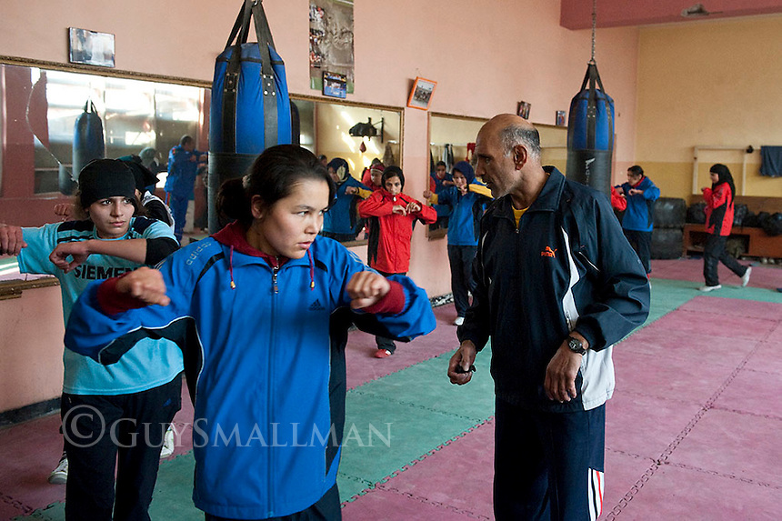 Afghan Olympic womens boxing team training in Kabul 11-1-12