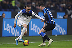Josip Ilicic of Atalanta takes on Alessandro Bastoni of Inter during the Serie A match at Giuseppe Meazza, Milan. Picture date: 11th January 2020. Picture credit should read: Jonathan Moscrop/Sportimage