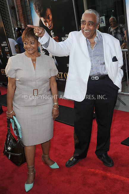 WWW.ACEPIXS.COM<br /> July 21, 2014 New York City<br /> <br /> Charlie Rangel attending the 'Get On Up' premiere at The Apollo Theater on July 21, 2014 in New York City.<br /> <br /> Please byline: Kristin Callahan/AcePictures<br /> <br /> ACEPIXS.COM<br /> <br /> Tel: (212) 243 8787 or (646) 769 0430<br /> e-mail: info@acepixs.com<br /> web: http://www.acepixs.com