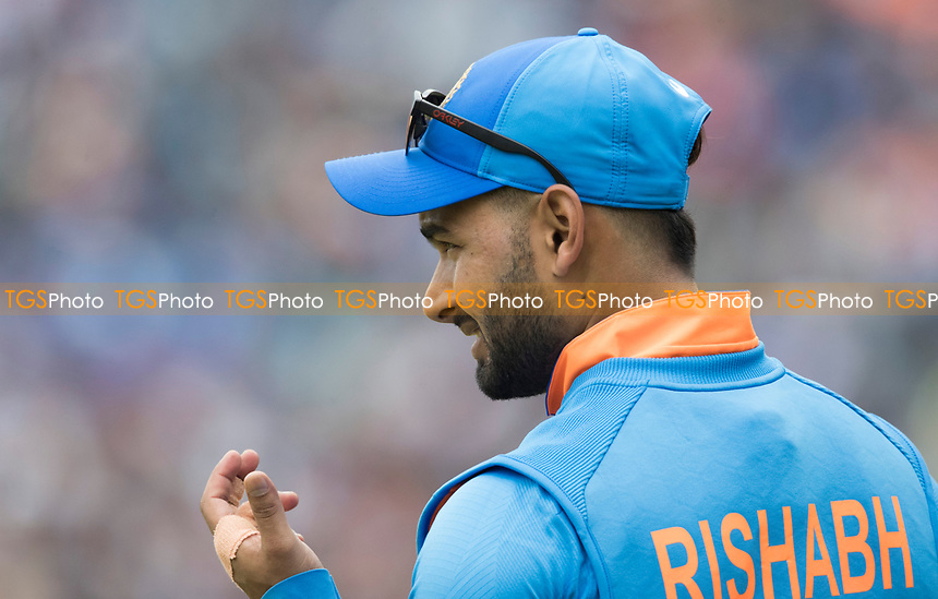 Rishabh Pant (India) during India vs New Zealand, ICC World Cup Semi-Final Cricket at Old Trafford on 9th July 2019