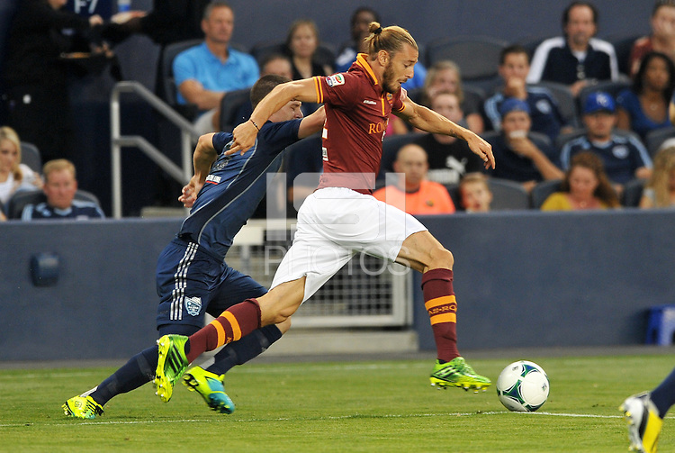 Sporting Park, Kansas City, Kansas, July 31 2013:<br /> Federico Balzaretti (42) defender AS Roma in action.<br /> MLS All-Stars were defeated 3-1 by AS Roma at Sporting Park, Kansas City, KS in the 2013 AT & T All-Star game.