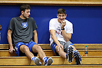 DURHAM, NC - SEPTEMBER 01: Grayson Allen and a Duke Men's Basketball teammate watch some volleyball. The Northwestern University Wildcats played the University of South Carolina Gamecocks on September 1, 2017 at Cameron Indoor Stadium in Durham, NC in a Division I women's college volleyball match. Northwestern won 3-1 (13-25, 25-18, 25-18, 25-19).