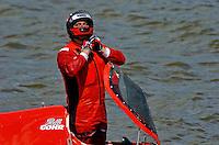 Bill Gohr (#58) unstraps after crashing.    (Formula 1/F1/Champ class)