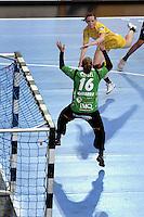 EHF Champions League Handball Damen / Frauen / Women - HC Leipzig HCL : SD Itxako Estella (spain) - Arena Leipzig - Gruppenphase Champions League - im Bild: Louise Lyksborg im Angriff Foto: Norman Rembarz .