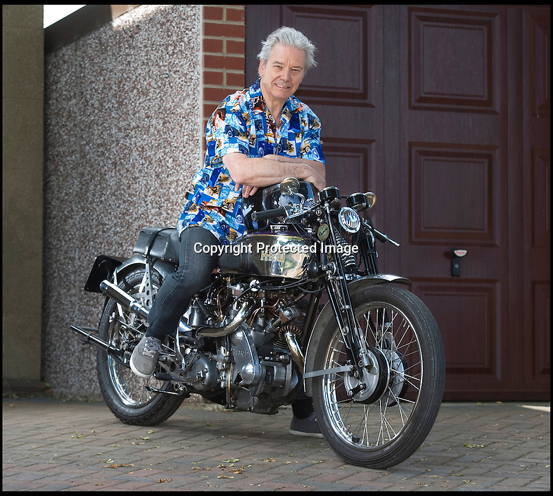 BNPS.co.uk (01202 558833)<br /> Pic: PhilYeomans/BNPS<br /> <br /> Proud Brian Hill on the 1937 Vincent HRD classic he first spotted in 1968 - and never dreamt he would own.<br /> <br /> A good turn by a cash strapped student in 1968 has netted him a whopping £225,000 windfall over 40 years later.<br /> <br /> When a struggling young student in 1968 Brian spotted an advert for the bike of his dreams - A pre war Vincent HRD for just £40, unfortunatley for Brian he could not scrape together the funds required and so mentioned the find to friend John Lumley who snapped up the two tea chests that contained the precious bike.<br /> <br /> It wasn't until 41 years later that Brian received a phone call to say that John had never forgotten his tip and had gifted the now iconic machine back to him in his will - still in the original tea chests.<br /> <br /> However the value of the these very rare machines has shot up in the intervening years and Brian's now lovingly restored bike would be worth nearly £250,000 at auction today.