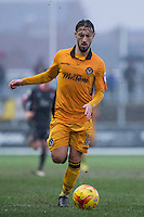 Josh Sheehan of Newport County during the abandoned Sky Bet League 2 match between Newport County and Morecambe at Rodney Parade, Newport, Wales on 10 December 2016. Photo by Mark  Hawkins.